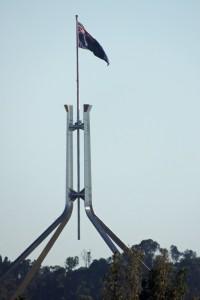 The Australian Flag over Parliament House