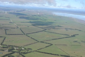 Farms, Wind-Farms and water in Lake George