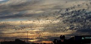 Evening sky, Emerald